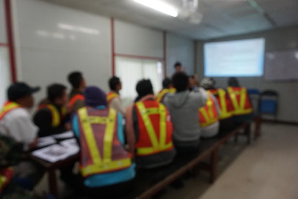 Crew in presentation